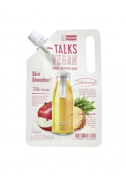 MISSHA Talks Vegan Squeeze Pocket Sleeping Mask [Skin Smoother]