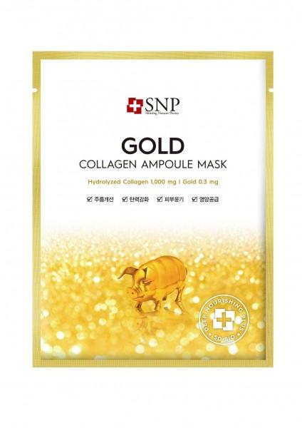 SNP Gold Collagen Ampoule Mask