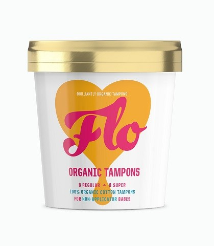 FLO Non-Applicator Tampon Pack (16 tampons)