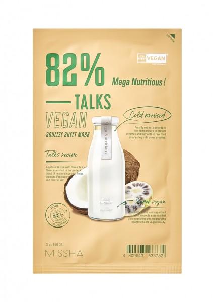 MISSHA Talks Vegan Squeeze Sheet Mask Mega Nutritious