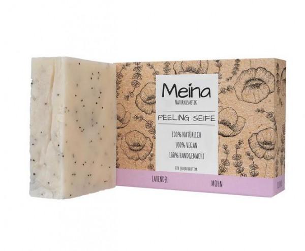 MEINA Peelingseife mit Lavendel und Mohn