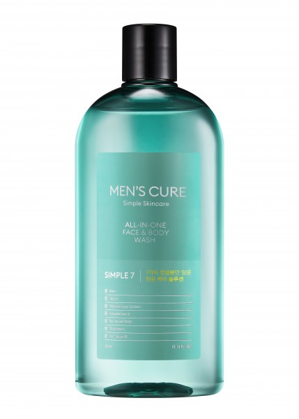 MISSHA Men's Cure Simple 7 All-In-One Face & Body Wash