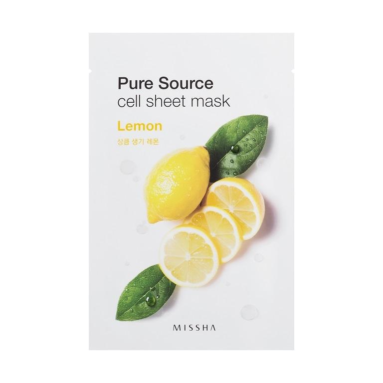 MISSHA_Pure_Source_Cell_Sheet_Mask_Lemon1